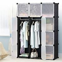 Пластиковый складной шкаф Storage Cube Cabinet «МР 312-62» Черный, фото 1