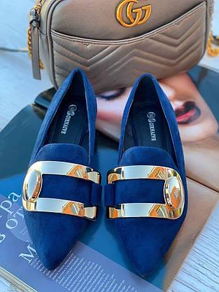 Туфли женские 6 пар в ящике синего цвета 36-40, фото 3
