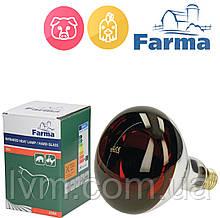 Лампа инфракрасная HardGlass 150Вт красная, для обогрева животных FARMA (Польща)  ОРИГИНАЛ !