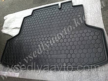 Коврик в багажник CHERY E5 (Автогум AVTO-GUMM) пластик+резина