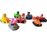 Набор игрушек фигурок щенячий патруль на своем транспорте