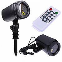 Новогодний проектор (зеленый красный) *3011012623 [519] + ПОДАРОК: Брелок с паракордом ультрафиолетовый лазер
