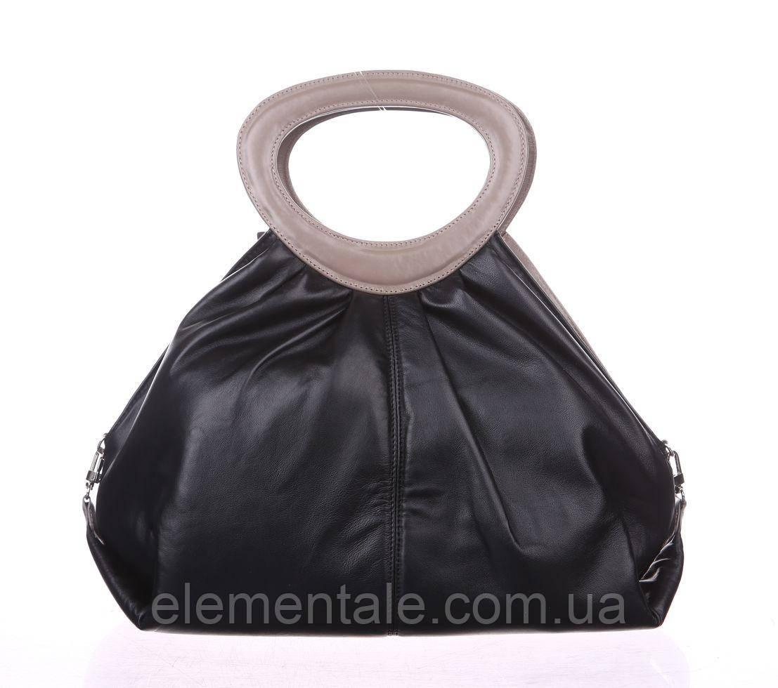 Женская сумка Valenta Черная с бежевым