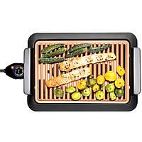 Бездымный электрический противень JE-S37 3000W + ПОДАРОК: Брелок с паракордом ультрафиолетовый лазер и фонарик