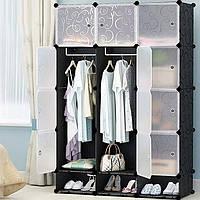 Шкаф гардероб пластиковый Storage Cube Cabinet «МР 312-62А» Черный, фото 1