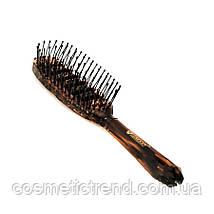 """Щітка для волосся масажна пластикова """"скелетна овальна"""" Salon Professional 18012TT, фото 3"""