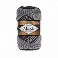 Пряжа Alize LanaGold Batik 100гр - 240м (1601 Разноцветная) 51% акрил, 49% шерсть, Турция