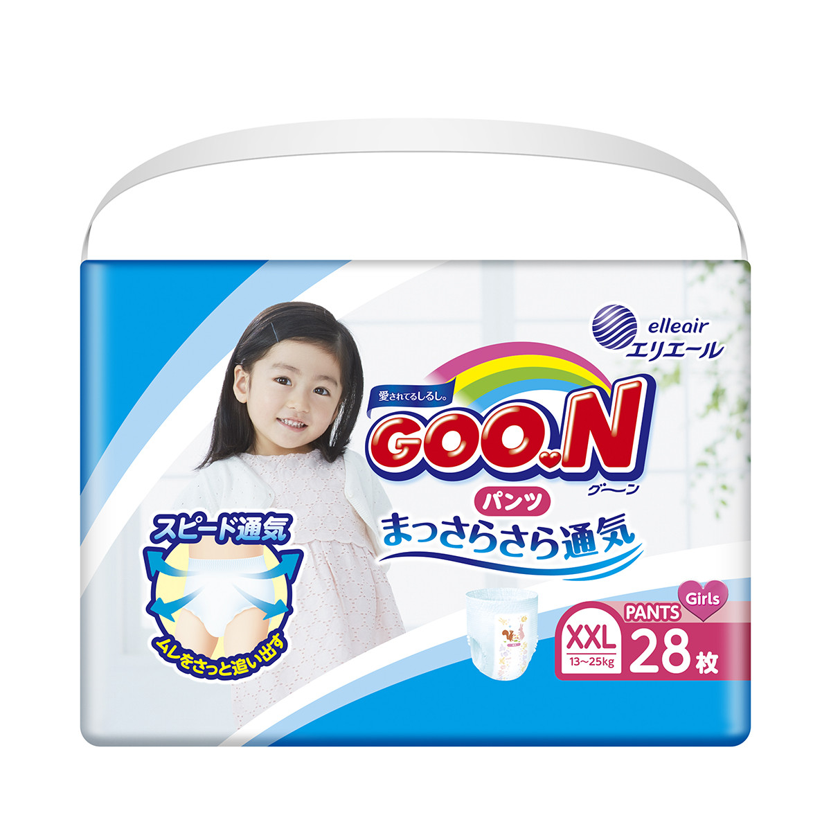 Трусики-подгузники Goo.N для девочек коллекция 2019 (XXL, 13-25 кг)
