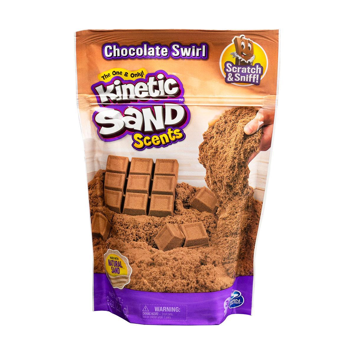 Песок для детского творчества с ароматом - Kinetic Sand Горячий шоколад