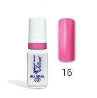 "Гель-Лак №016 Neon Pink (неоновый темно-розовый) UV/LED ""Gelliant"" 5 мл."
