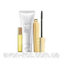 """Набор """"Звездное Трио"""" из легендарных продуктов Avon - тушь luxe,  гель для умывания ANEW,  мини- аромат  Today"""