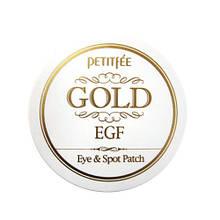 Патчи для век Petitfee Gold & EGF Eye & Spot Patch, 60+30