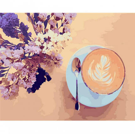 "Картина по номерам. Brushme ""Лавандовый кофе"" GX22206, фото 2"