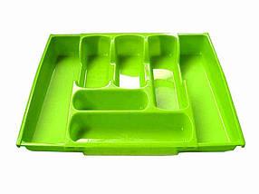 Лоток для столових приладів, розсувний (65*300*420мм) салатовий ТМКОНСЕНСУС