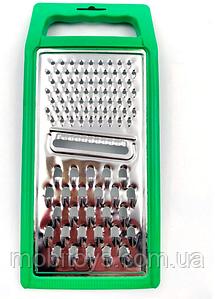 Терка плоская металлическая с пластиковой ручкой (24x10.5 см)