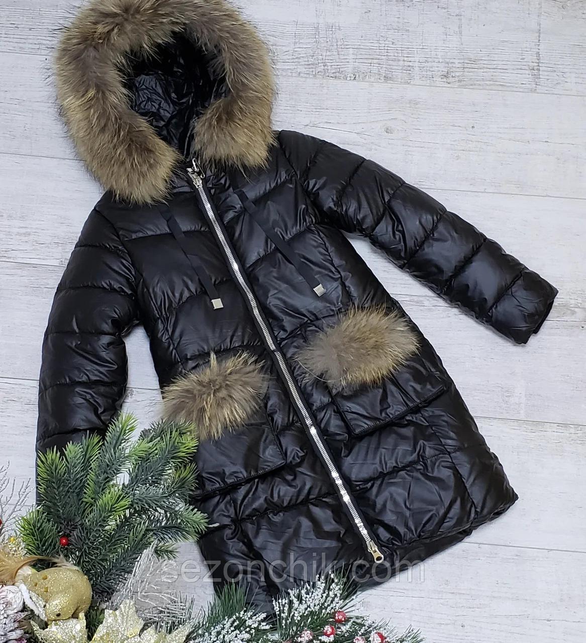 Модное зимнее детское пальто на девочку
