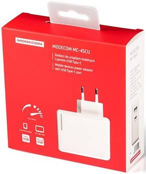 Мережевий зарядний пристрій Modecom MC-45CU-01 (1USB, 2.4 A) White (ZT-MC-45CU-01), фото 3