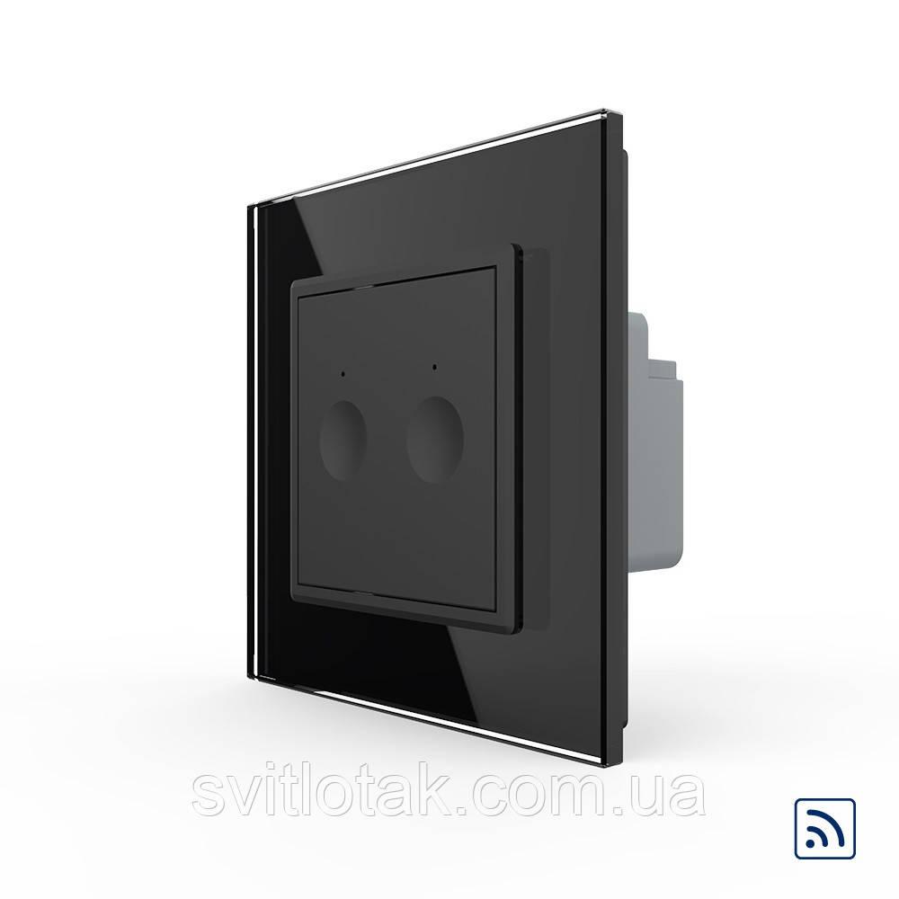 Сенсорный радиоуправляемый выключатель Livolo Sense 2 канала черный (722100212)