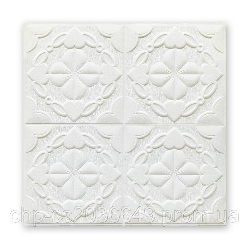 Самоклеющаяся декоративная потолочная 3D панель  700x770x5мм потолочная