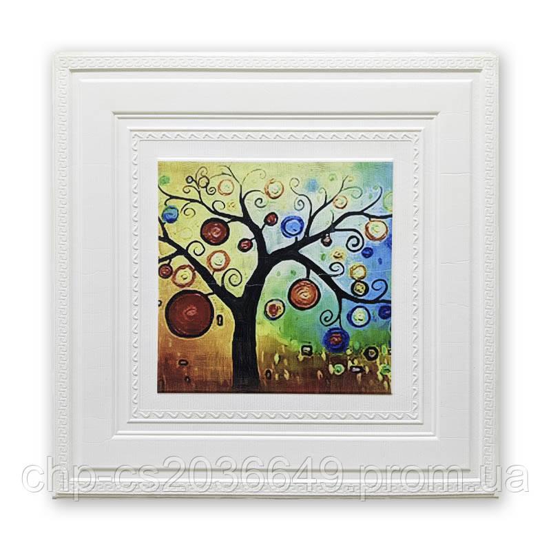 Самоклеящаяся детская 3D панель обои Sticker Wall 700x770x8мм картина дерево