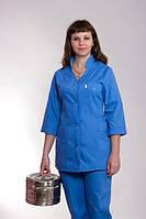 "Медицинский костюм женский ""Health Life"" х/б синий 2215"