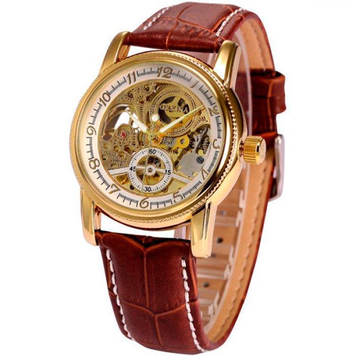 Мужские часы Orkina 7206 Коричневые