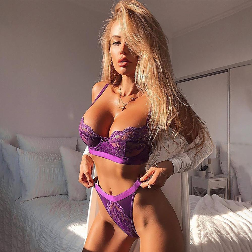 Комплект нижнего белья Ellolace фиолетовый