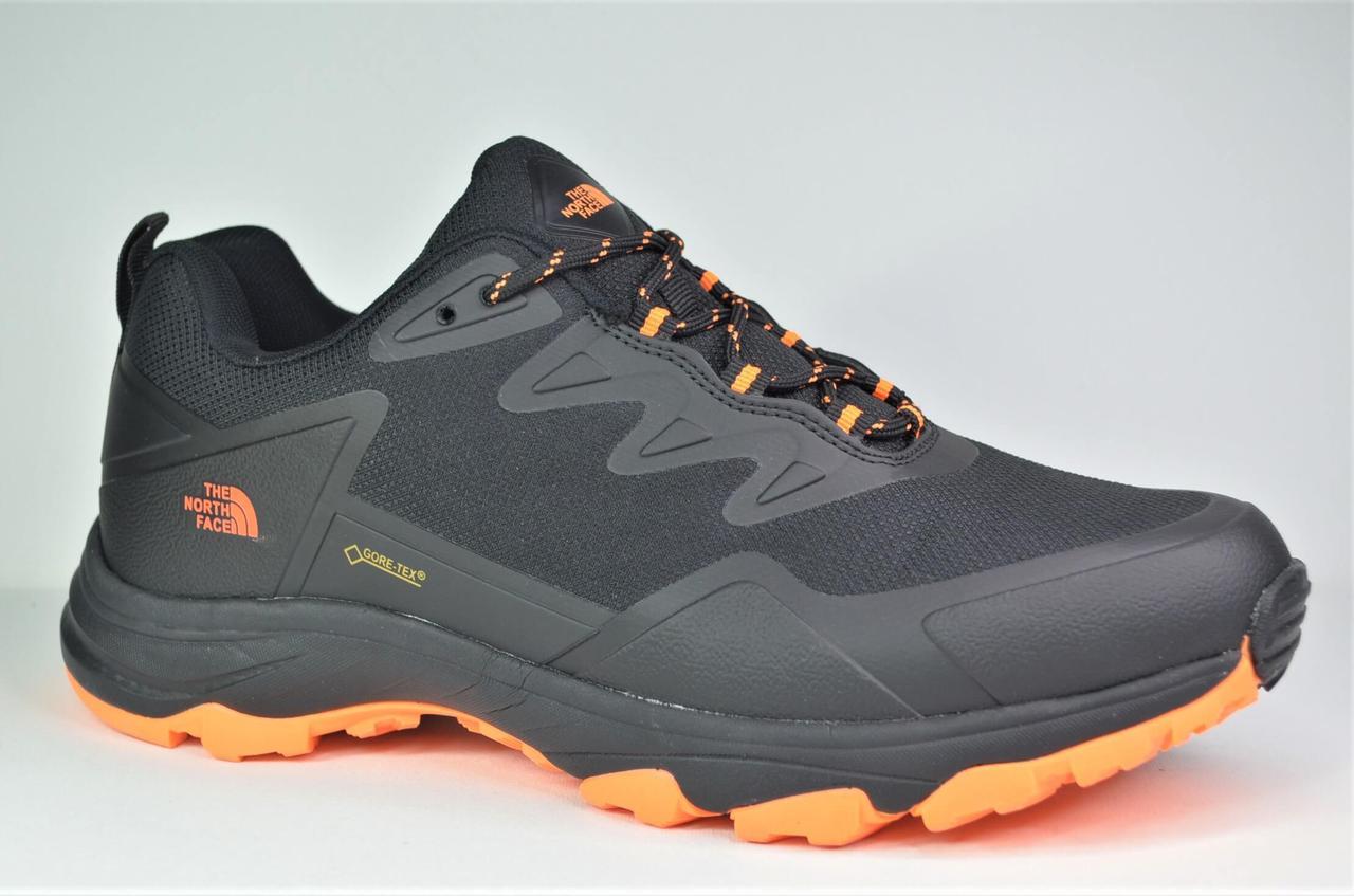 Мужские демисезонные кроссовки черные с оранжевым в стиле The North Face 964 - 4