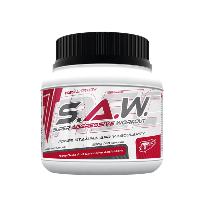 Предтренировочный комплекс Trec Nutrition S.A.W., 200 грамм Лесная ягода