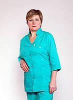"Медицинский костюм женский ""Health Life"" х/б зеленый 2216"