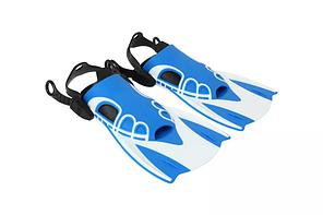 Ласти для підводного плавання і дайвінгу One size Біло-сині (S_O_260919_1)