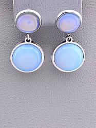Серьги женские оригинальные Stainless Steel Лунный камень