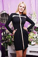 Эффектное женское платье IR Влада  цвета: темносиний | чёрный