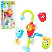 """Чудовий набір Іграшка для ванної """"Забавний кран"""" з 3 формочками, висота іграшки 36 див. арт. 40116"""