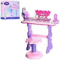 Детский многофункциональный синтезатор - пианино со стульчиком, микрофоном, 37 клавиш арт. 6618