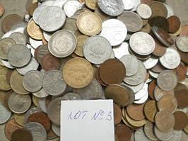 Гора иностранных монет! 500 шт. без России (Лот 3)