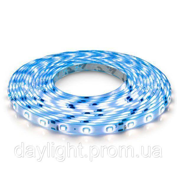 Светодиодная led лента влагостойкая 5 метров синий свет (4.8вт/м 60д 3528) ГАРАНТИЯ 12 мес.