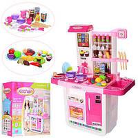 Детская кухня с водой, холодильником и аксессуарами, 25 предметов посуды, 21 шт продуктов арт. WD-A23
