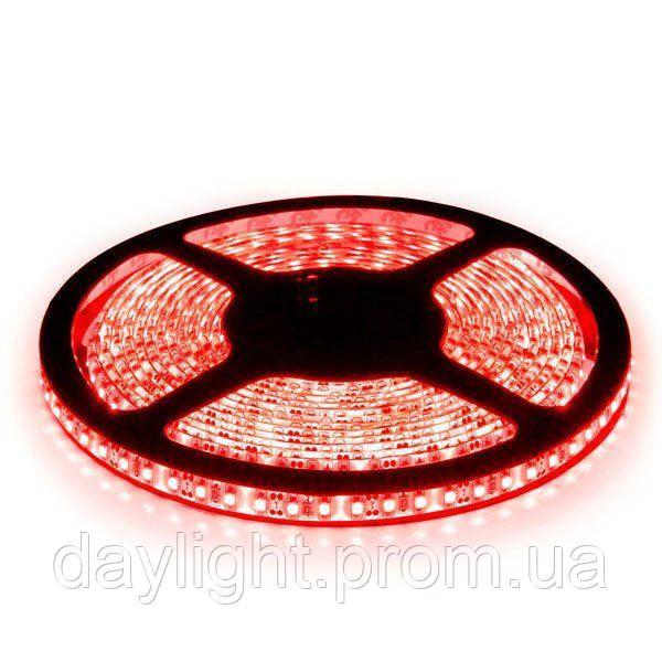 Светодиодная led лента влагостойкая 5 метров красный свет (9.6вт/м 120д 3528) ГАРАНТИЯ 12 мес.
