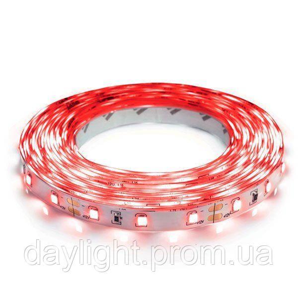 Светодиодная led лента влагостойкая 5 метров красный свет (4.8вт/м 60д 3528) ГАРАНТИЯ 12 мес.