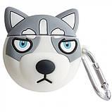 Силиконовый футляр Husky для наушников AirPods + карабин, фото 2