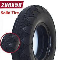 Покрышка 200х50 литая для самоката, инвалидной коляски (Solid Tire).