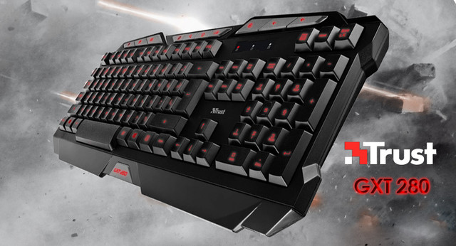 Trust GXT 280 LED Illuminated Gaming Keyboard USB