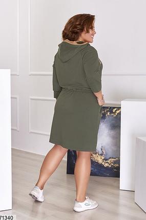 Спортивное платье хаки батал Размеры: 48-50, 52-54, 56-58, фото 2