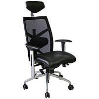 Кресло офисное EXACT Black, leather