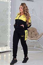 """Женский трикотажный спортивный костюм """"AIR"""" с контрастными вставками (большие размеры), фото 3"""