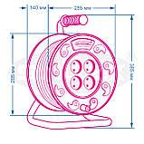 Удлинитель SVITTEX на катушке 40м  с сечением провода 2х0,75 мм² ., фото 2