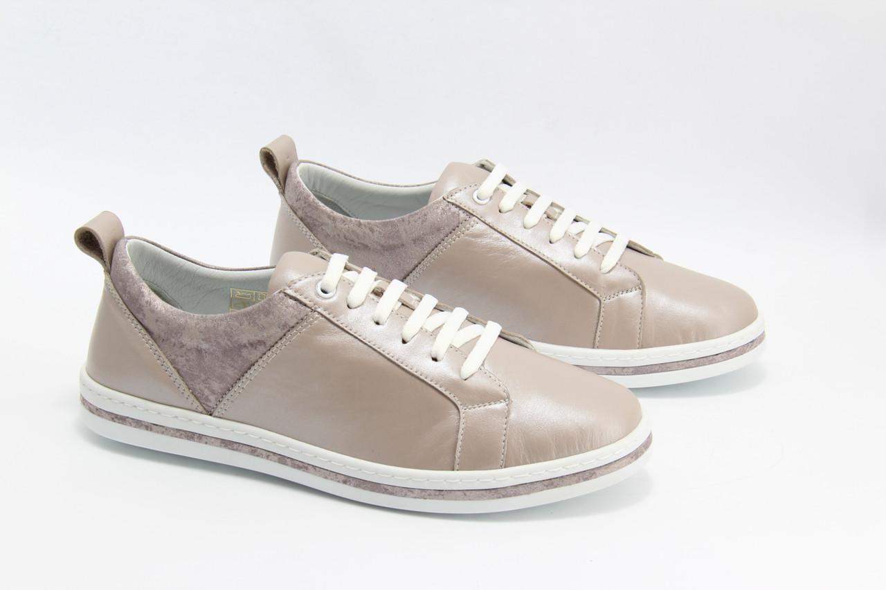 Светлые кожаные кроссовки Meldymoor 127E-S-vizon