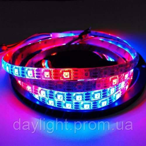 Адресная светодиодная led лента RGB каждый диод 5 метров (14,4вт/м 60д 5050 5v) ГАРАНТИЯ 12 мес.