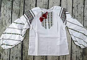 Блузка для девочек Вышиванка Белый Терикоттон Бэмби Украина